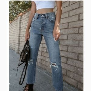 LEVIS 501 CROPPED